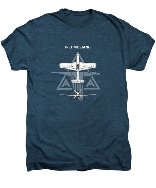 P-51 Mustang Men's Premium T-Shirt by Mark Rogan