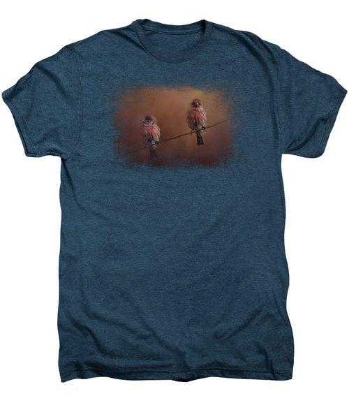 Pair Of Finches Men's Premium T-Shirt by Jai Johnson