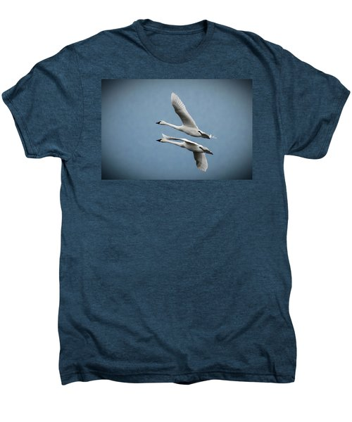 Pair Of Tundra Swan Men's Premium T-Shirt