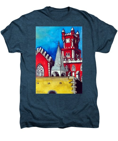 Pena Palace In Portugal Men's Premium T-Shirt by Dora Hathazi Mendes