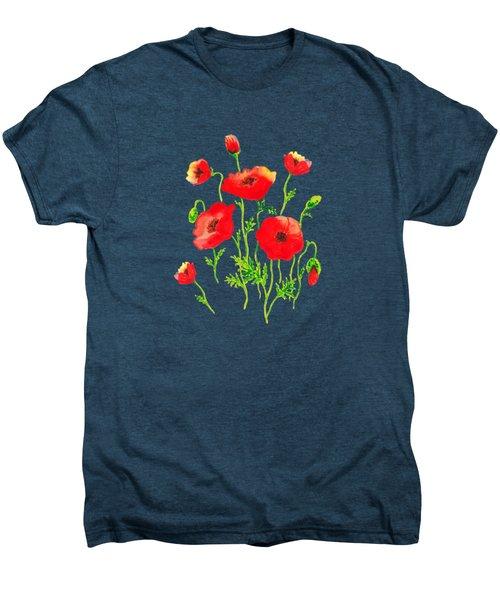 Playful Poppy Flowers Men's Premium T-Shirt