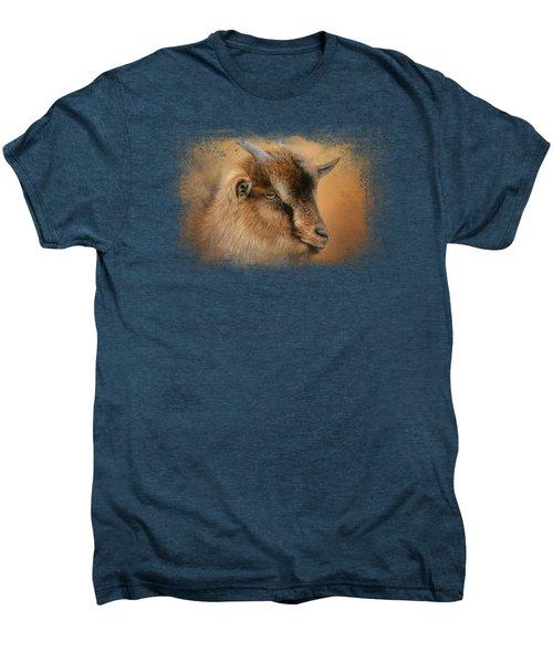Portrait Of A Nubian Dwarf Goat Men's Premium T-Shirt