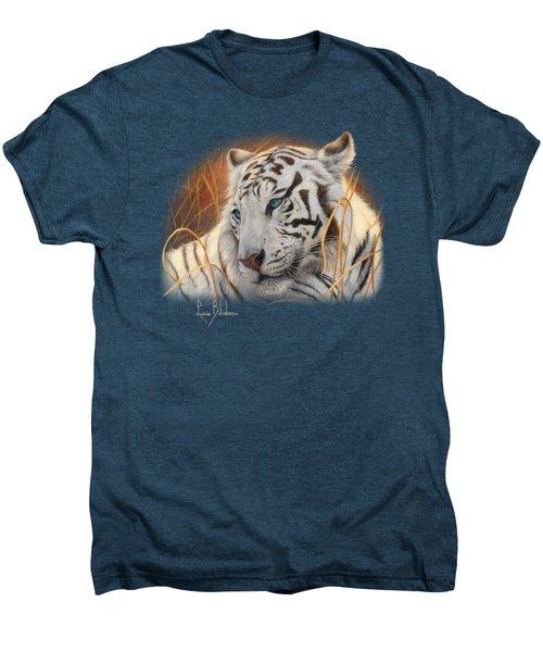 Portrait White Tiger 1 Men's Premium T-Shirt by Lucie Bilodeau