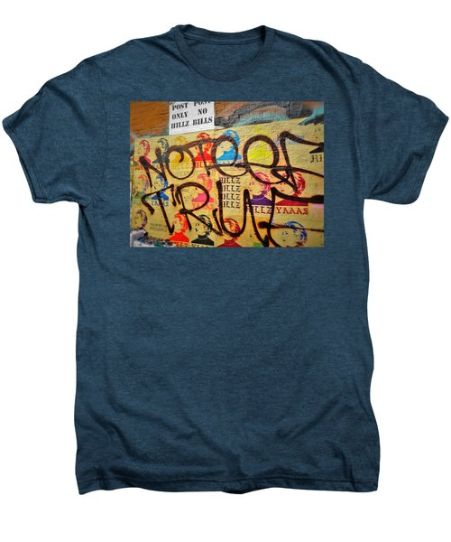 Post No Bills Hillary Clinton  Men's Premium T-Shirt by Funkpix Photo Hunter