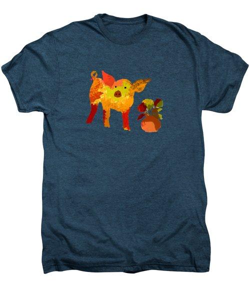 Pretty Pig Men's Premium T-Shirt by Holly McGee