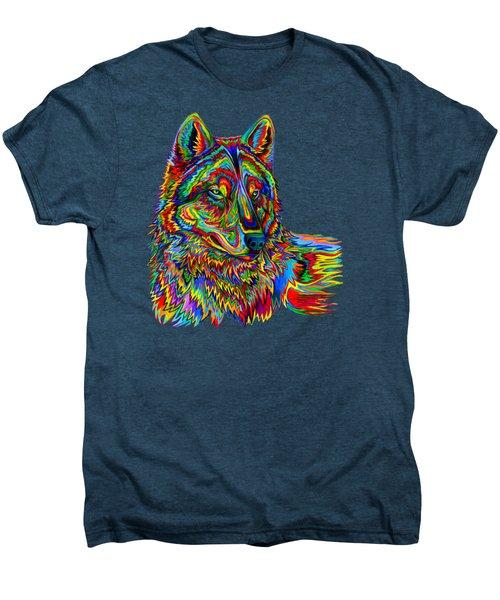 Psychedelic Wolf Men's Premium T-Shirt