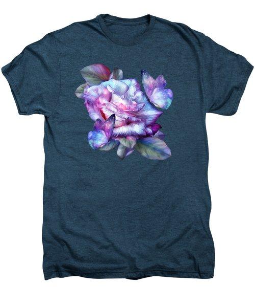 Purple Rose And Butterflies Men's Premium T-Shirt