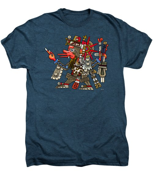 Quetzalcoatl In Human Warrior Form - Codex Borgia Men's Premium T-Shirt by Serge Averbukh