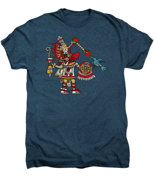 Quetzalcoatl In Human Warrior Form - Codex Magliabechiano Men's Premium T-Shirt by Serge Averbukh