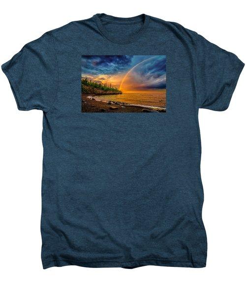 Rainbow Point Men's Premium T-Shirt by Rikk Flohr
