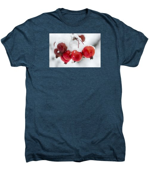Men's Premium T-Shirt featuring the photograph Red And White by Sebastian Musial
