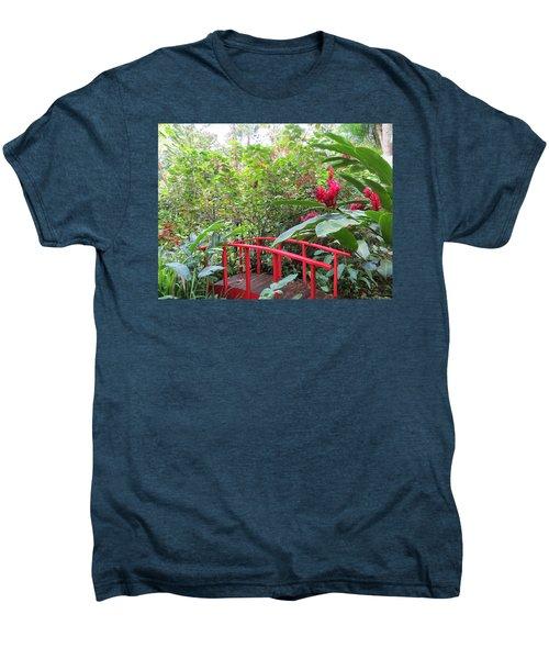 Red Bridge Men's Premium T-Shirt by Teresa Wing
