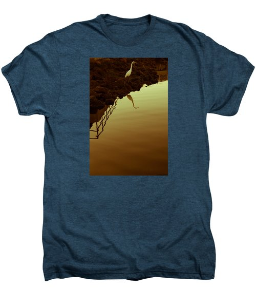 Elegant Bird Men's Premium T-Shirt by Lora Lee Chapman