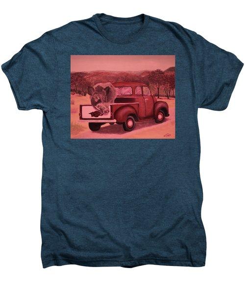 Ridin' With Razorbacks 3 Men's Premium T-Shirt by Belinda Nagy