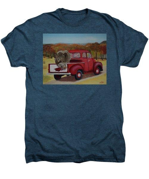 Ridin' With Razorbacks Men's Premium T-Shirt by Belinda Nagy