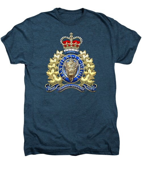 Royal Canadian Mounted Police - Rcmp Badge On Red Leather Men's Premium T-Shirt