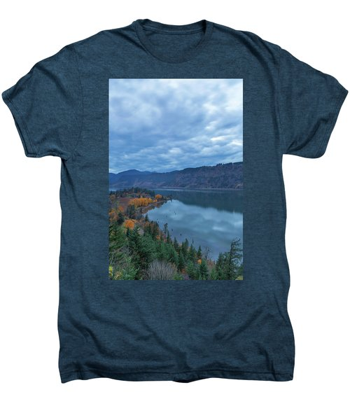 Ruthton Point During Evening Blue Hour Men's Premium T-Shirt