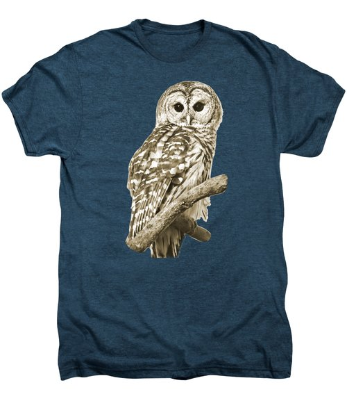 Sepia Owl Men's Premium T-Shirt
