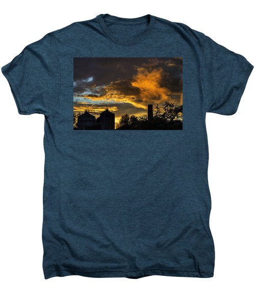 Men's Premium T-Shirt featuring the photograph Smoky Sunset by Jeremy Lavender Photography