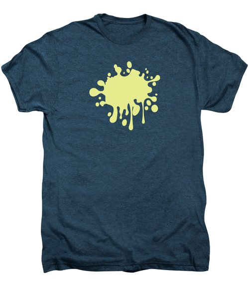 Solid Yellow Pastel Color Men's Premium T-Shirt by Garaga Designs