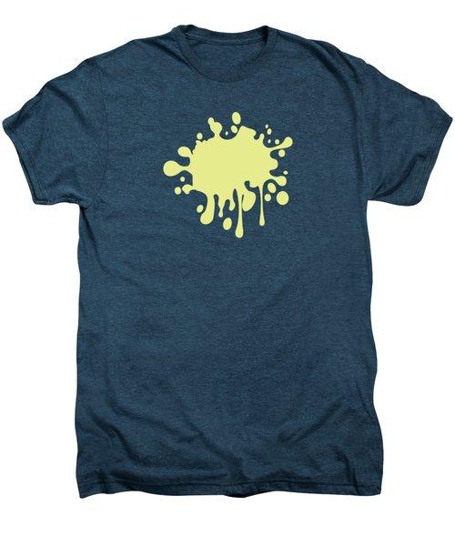 Solid Yellow Pastel Color Men's Premium T-Shirt