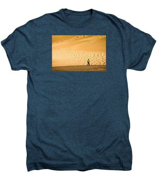 Men's Premium T-Shirt featuring the photograph Solitude In The Dunes by Rikk Flohr