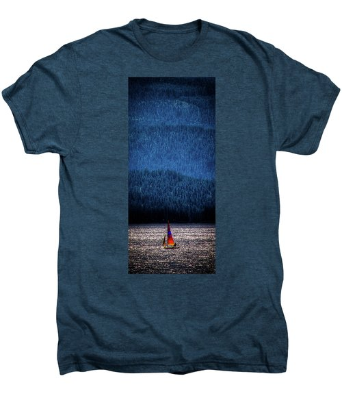 Men's Premium T-Shirt featuring the photograph Solitude On Priest Lake by David Patterson