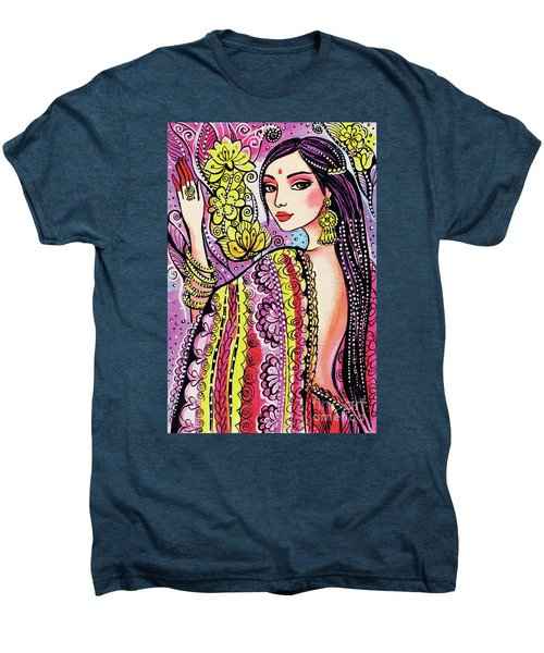 Men's Premium T-Shirt featuring the painting Soul Of India by Eva Campbell
