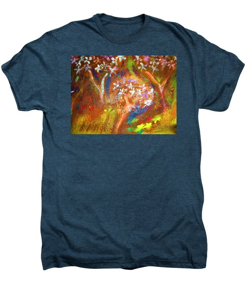 Men's Premium T-Shirt featuring the painting Spring Blossom by Winsome Gunning