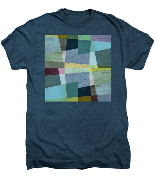 Men's Premium T-Shirt featuring the digital art Squares And Shims by Michelle Calkins