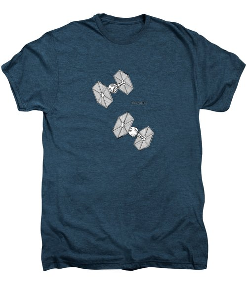 Star Wars - Tie Fighter Patent Men's Premium T-Shirt by Mark Rogan