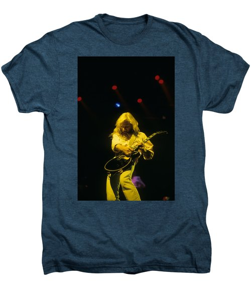 Steve Clark Men's Premium T-Shirt by Rich Fuscia
