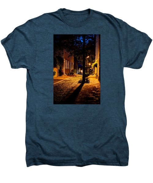Street In Olde Town Philadelphia Men's Premium T-Shirt