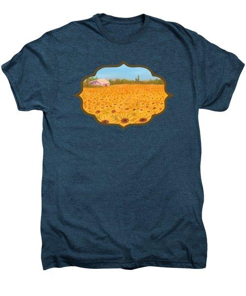Sunflower Field Men's Premium T-Shirt by Anastasiya Malakhova
