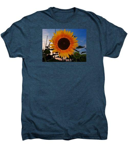 Sunflower In The Evening Men's Premium T-Shirt