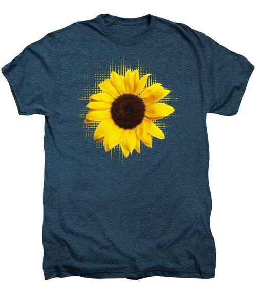 Sunflower Sunburst Men's Premium T-Shirt by Gill Billington