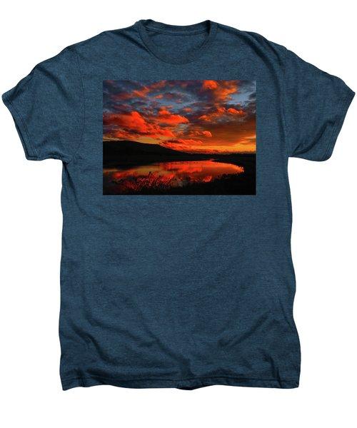 Sunset At Wallkill River National Wildlife Refuge Men's Premium T-Shirt