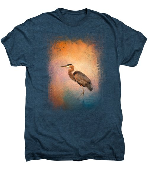 Sunset Heron Men's Premium T-Shirt by Jai Johnson