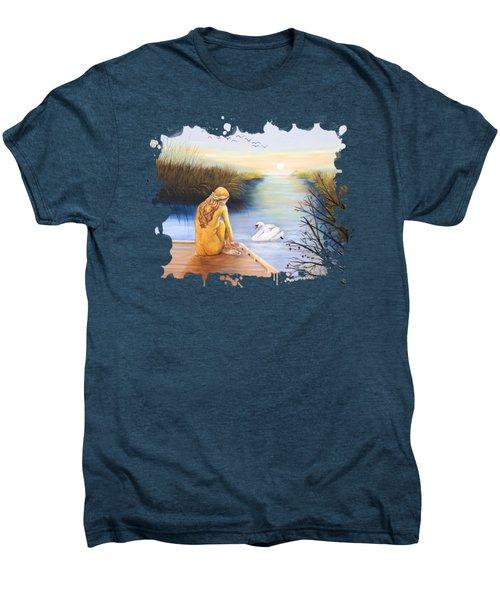 Swan Bride T-shirt Men's Premium T-Shirt by Dorothy Riley