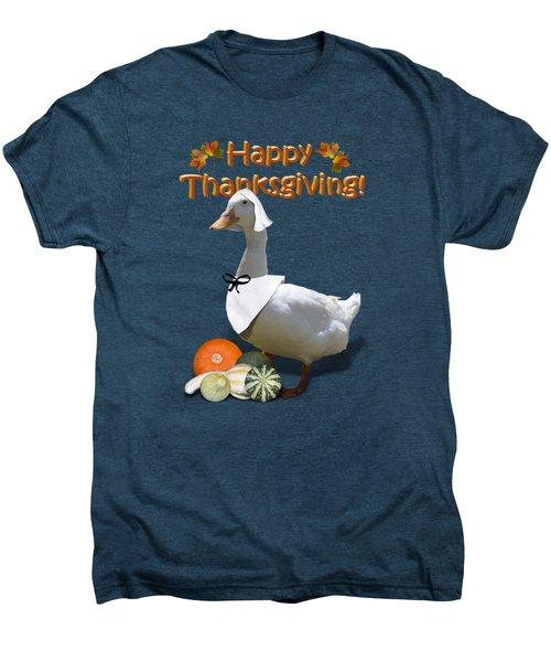 Thanksgiving Pilgrim Duck Men's Premium T-Shirt