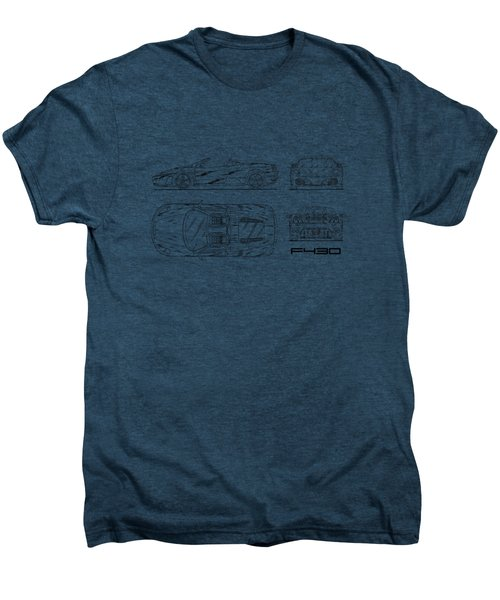 The F430 Blueprint - White Men's Premium T-Shirt