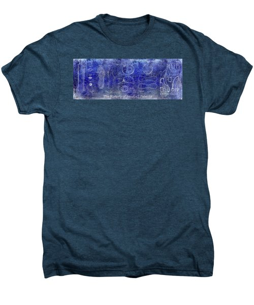 The History Of Baseball Patents Blue Men's Premium T-Shirt by Jon Neidert
