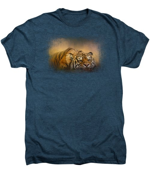 The Tiger Awakens Men's Premium T-Shirt by Jai Johnson