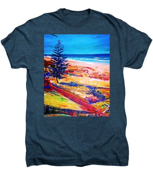 Men's Premium T-Shirt featuring the painting The Winter Dunes by Winsome Gunning