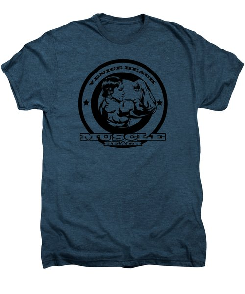 Venice Beach Arnold Muscle Men's Premium T-Shirt by Alex Soro