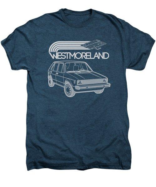 Vw Rabbit - Westmoreland Theme - Gray Men's Premium T-Shirt