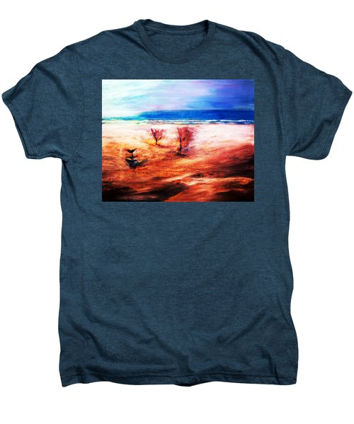 Men's Premium T-Shirt featuring the painting Water And Earth by Winsome Gunning