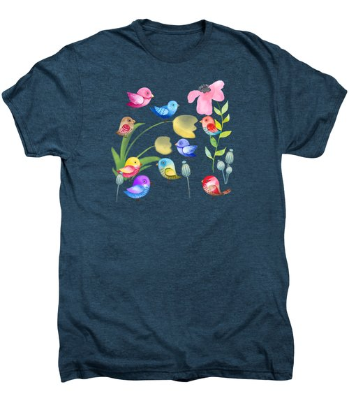 Watercolor Garden Party Men's Premium T-Shirt