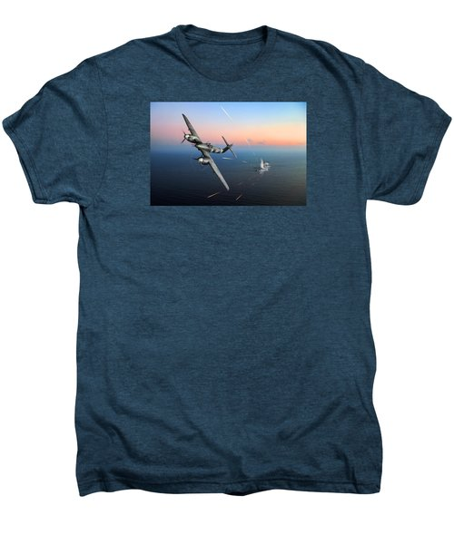 Men's Premium T-Shirt featuring the photograph Westland Whirlwind Attacking E-boats by Gary Eason