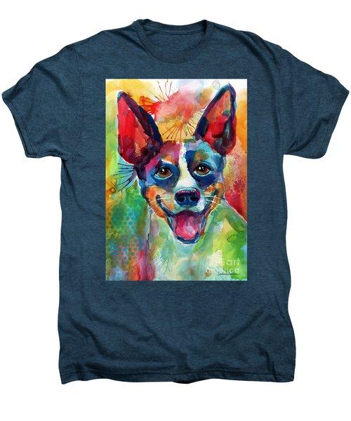Whimsical Rat Terrier Dog Painting Men's Premium T-Shirt by Svetlana Novikova